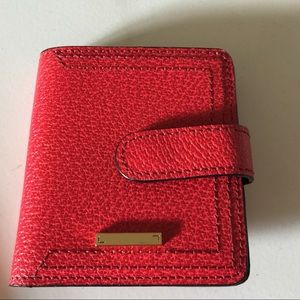 LODIS SMALL RED PEBBLED LEATHER BIFOLD WALLET NWOT